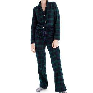 J crew blackwatch flannel pajamas two piece set